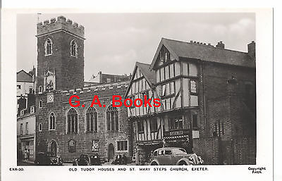 EXR-30 Old Tudor Houses And St. Mary Steps Church, Exeter Postcard - Not Posted