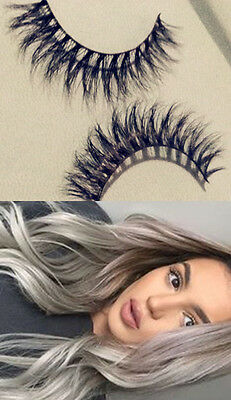100% 3D Mink Fur False Eye Lashes Flutter Hand Thick Sale Lilly Christmas Gift 1