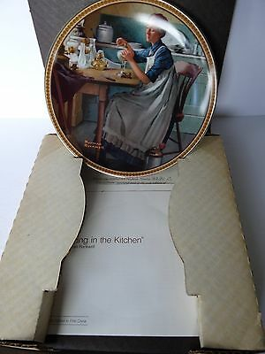 "Norman Rockwell ""Rockwell's Rediscovered Women"" Plates set of 4, COAs & boxes"
