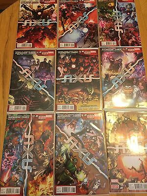 Marvel's Axis Issues 1-9 (Red Supremacy, Inversion, New World Disorder)