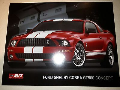 2007 FORD MUSTANG SHELBY GT500 GT-500 BROCHURE, Caroll Shelby signature on back.