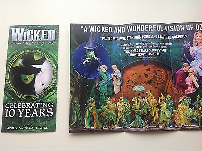 Wicked The Musical  Celebrating 10 years Flyer / handbill x2  NEW