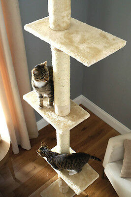Floor To Ceiling Cat Tree Climbing Platform with Scratching Pole