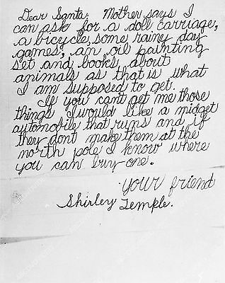 Pic Shirley Temple writes a hopeful letter to Santa Claus   2041-29