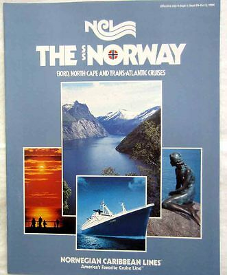 Ss Norway Ncl First European Cruises Brochure 1984