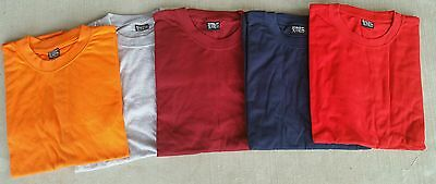 Men's t-shirt round neck  size 4XL 5 shirts solid colors casual tshirt gemrock