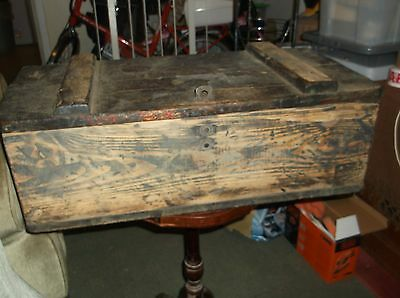 vintage wooden tool chest