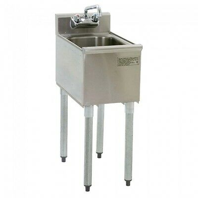 Stainless Steel Single One Compartment Bar Sink with Faucet - 19 x 12 - NSF