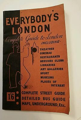 Vintage London Guide - Everybody's London, Complete Guide to London