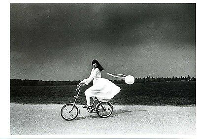 Postcard - Girl on a Bicycle