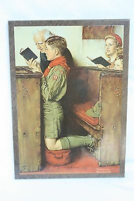 A Scout is Reverent Norman Rockwell Plaque