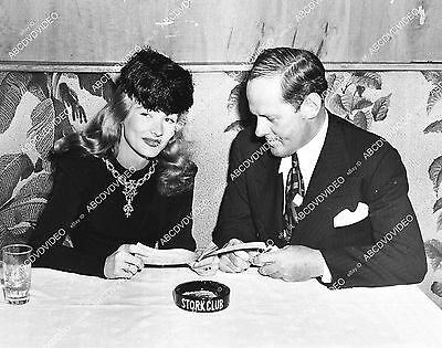 Pic candid Veronica Lake and Sherman Billingsley dining at the Stork Club  1331-