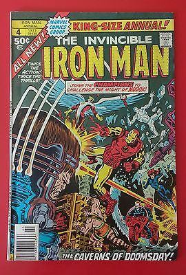 Iron Man King-size Annual #4 Marvel Bronze Age FN-