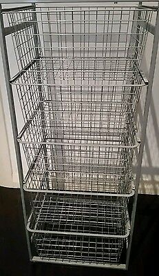 Wire baskets and frame
