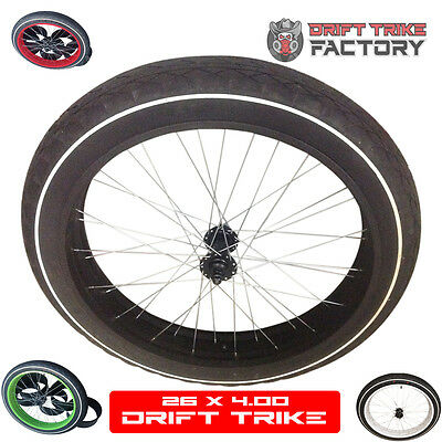 Drift Trike Fat Drifter or Fat Bike 26 x 4 Front Wheel Set