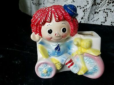 Raggedy ann Floral Vase by RELCO made in Japan