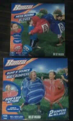Banzai Bump N Bounce Body Bumpers and Mega boxing gloves lot BRAND NEW!