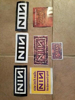 Nine Inch Nails Vintage Sales Stickers + Promo Phone Card