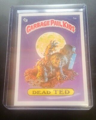 """2015 Garbage Pail Kids 30th Anniversary 0S1 Buyback """" Dead Ted """" 5a """"Very Very R"""