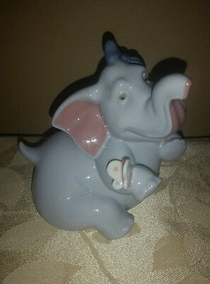 Nao by Lladro Elephant with Butterfly