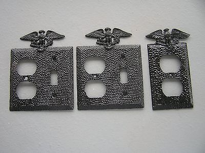 3 Metal Light Recptable Covers