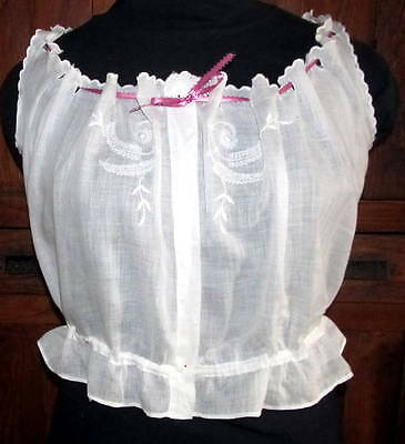 Antique White Embroidered Camisole - Lovely!