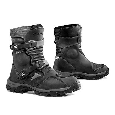 Forma Adventure Low motorcycle boots, mens, black, waterproof adv riding short