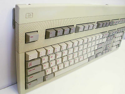 Vintage HP C1405A Industrial Computer Keyboard No Removable Cable Packard -Nice