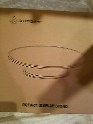 Autoart Rotary Display Stand 12 Inch New In Box Black