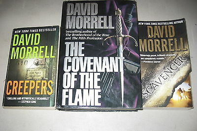 David Morrell Lot of 3 Best-selling Suspense Thrillers, Creepers, Scavenger