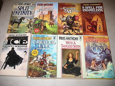 Piers Anthony Lot of 8 Fantasy Novels, Xanth ++