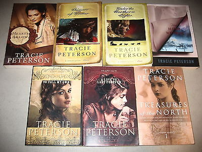 Tracie Peterson Lot of 7 Christian Historical Fiction, Whispers of Winter