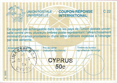 CYPRUS 50 MILS International Reply Coupon
