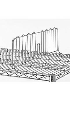 """18""""L X 8""""H Shelf Divider For Open Wire Shelving With Chrome Finish"""