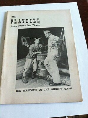 Playbill 1954 The Teahouse Of The August Moon Martin Beck Theatre