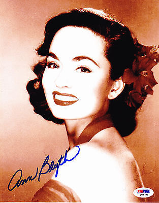 Ann Blyth Signed 8x10 Photo PSA DNA COA Autograph Nice