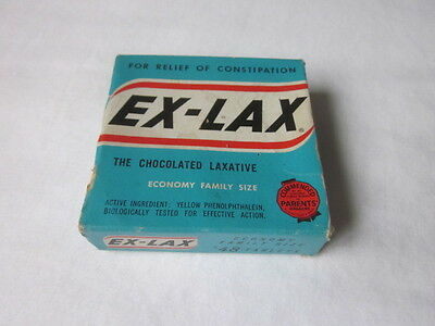 Vintage EX-LAX Chocolate Laxative Cardboard Empty Box Only for Display