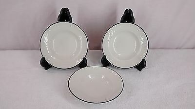 Homer Laughlin Gothic Blue rim sauce dishes lot of 3