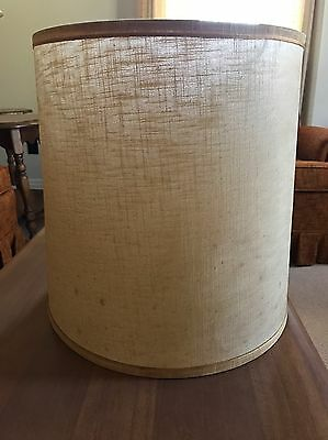 "Mid Century Large Barrel Drum Lampshade 14.5"" Length"