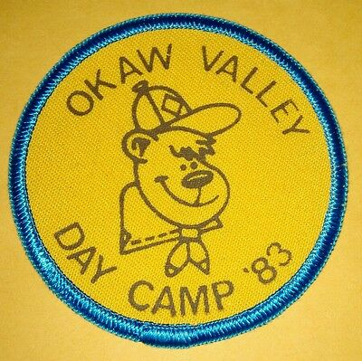 Vintage Scout Patch Okaw Valley Day Camp '83 Monkey Bear