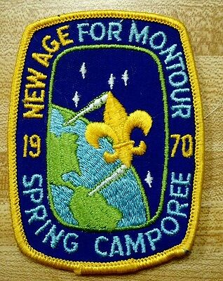 Vintage Scout Patch 1970 New Age For Montour Spring Camporee PA