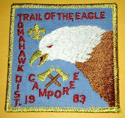 Vintage Scout Patch Tomahawk District Trail Of The Eagle Camporee 1983