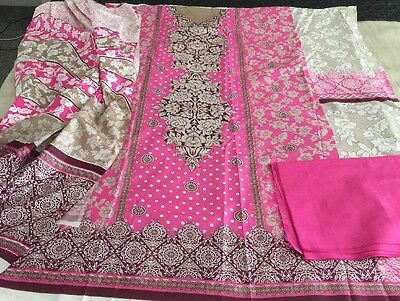 Pakistani Indian  Cotton UN-STITCHED SHALWAR KAMEEZ SUIT