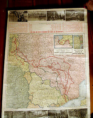1918 Kenyon's Map Of The Western Front(Ww1)-26X36-Printed 1 Month Before War End