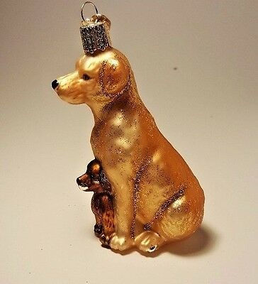 Dog Family Old World Christmas Mama And Pups Ornament Discounted C