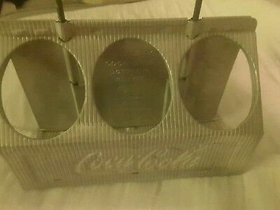 coke coca cola carrier metal 6 pack