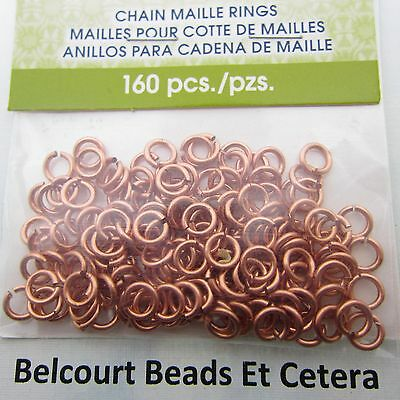 3.57mm Copper Chain Maille Open Jump Rings Artistic Wire 18ga 160 O Rings