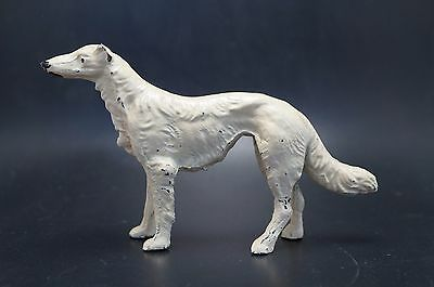 VTG Metal BORZOI Dog Lusterware