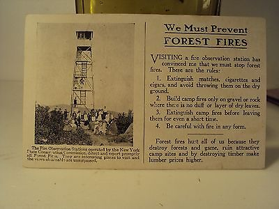 Conservation Commission NY / DEC / Fire Towers / ADK / Adirondack / Postcard