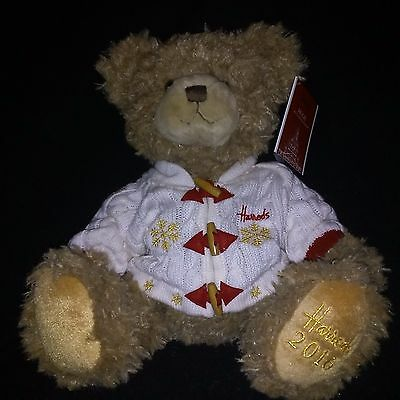 Harrods Christmas 2016 Annual Collectable Teddy Bear - Hugh 13 inch NWT in USA